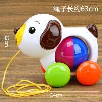 牵拉玩具 拖拉小鸭子拉线带摇铃多功能儿童拉绳小黄鸭宝宝学步牵引玩具