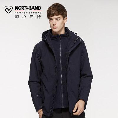诺诗兰户外冲锋衣潮牌男士新款防水加绒加厚外套GS075515