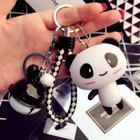 钥匙扣 卡通情侣汽车钥匙扣女韩国创意铃铛小挂件可爱包包钥匙圈环链礼品