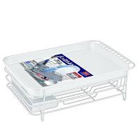 碗筷收纳篮碗架沥水架置物厨房架碗碟塑料碗柜不锈钢架