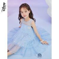 迪士尼女童夏装连衣裙2021新款宝宝公主裙儿童夏款裙子洋气时尚76233