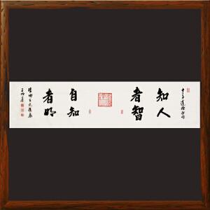 《知人者智自知者明》王明善 中华两岸书画家协会主席R1159