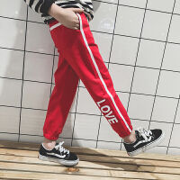 女童裤子2018新款韩版童装休闲裤女孩秋季长裤大儿童春秋装运动裤