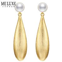 MELUXE �L水滴 5-7mm天然淡水珍珠珍珠耳�