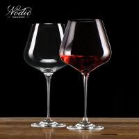 红酒杯套装家用水晶大号勃艮第大肚红酒杯2个一对情侣800ml