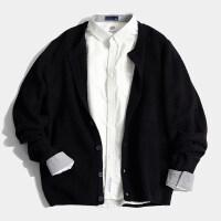 长袖毛衣男士韩版潮流个性外穿针织开衫百搭宽松修身线衫