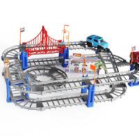 百变轨道车玩具托马斯拼装电动极速轨道益智玩具儿童diy玩具