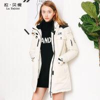 冬季羽绒服女中长款韩版宽松运动加厚时尚外套