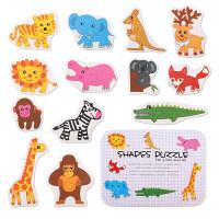 幼童拼图 幼儿童纸质拼图早教宝宝大块积木认知玩具女孩男孩1-2-3周岁