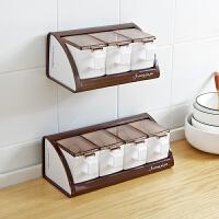 厨房壁挂式调味盒套装创意家用塑料调味罐味精盐罐调料盒调味料盒