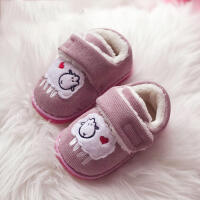 手工纳底秋冬季1-3-6岁女童家居棉拖鞋宝宝室内儿童保暖鞋