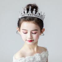 女孩晚礼服女模特走秀发饰儿童皇冠头饰公主女童王冠发箍