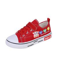 儿童帆布鞋 男女童2021春秋款韩版低帮板鞋男童女童鞋宝宝学生休闲布鞋