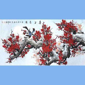 中国美协会员,中国书协会员,龙云书画院院长候桂峰(喜上眉梢)2