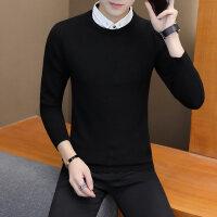 秋冬季假两件毛衣男士韩版衬衫领针织衫假领潮流带衬衣领子打底衫