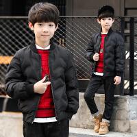 童装男童冬装棉衣外套2018新款中大儿童冬季男孩加厚保暖棉袄