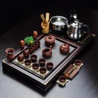 全自动紫砂茶具套装家用功夫茶道实木茶盘整套茶台茶海茶壶茶杯 38件