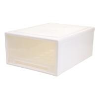 透明抽屉式收纳箱衣物整理箱衣服收纳柜内衣塑料储物箱衣柜收纳盒 49L 48*45*22.5CM 1个装巨无霸