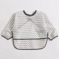 宝宝罩衣全身防水免洗反穿衣长袖婴儿吃饭护衣围兜儿童围裙0-3岁