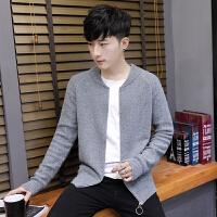 毛衣男春秋青年学生针织开衫外套秋季韩版潮流个性宽松帅气薄线衣