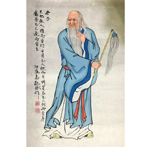 长江画院常务理事,国家一级美术师秦敬斌(老子像)10