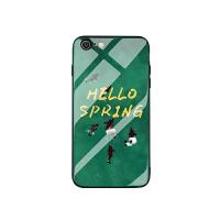 苹果7plus手机壳玻璃套iphone6s女款个性创意夏天x潮牌新款带挂绳 iphone 6/6s