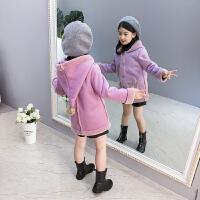 儿童外套秋冬季2018新款加绒加厚上衣女孩休闲大衣潮