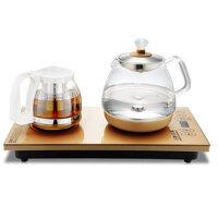 王牌名典 全自动上水电热水壶 底部上水电热烧水壶家用智能玻璃功夫茶抽水式电磁炉泡茶具