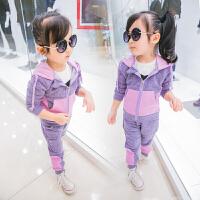 童装女童秋装套装2018新款韩版儿童时髦1-3岁宝宝运动衣服5两件套