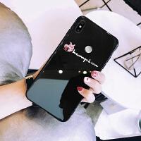网红小米max3手机壳玻璃镜面保护套防摔男女款情侣新款超薄软硬外壳全包边潮牌个性创意ins抖音同款简