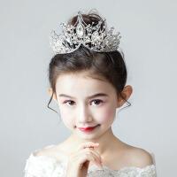 儿童女孩生日走秀王冠头饰发饰儿童皇冠头饰公主女童王冠头饰