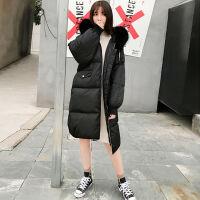 大毛领羽绒服女中长款2019学生韩版可爱加厚冬季大码女士外套