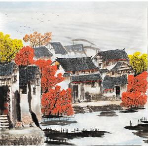 中国美协会员,中国书协会员 侯桂峰(江南民居)46