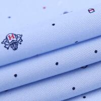 2018春季长袖衬衫男士中老年寸衫修身韩版印花大码商务休闲衬衣 B1606 M