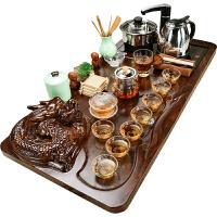 功夫茶具套装家用简约陶瓷茶杯电热磁炉茶台茶道实木茶盘