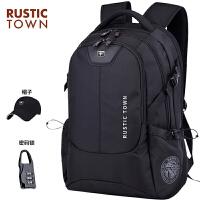 瑞士双肩包男超大容量休闲商务旅行电脑背包男士高中初中学生书包