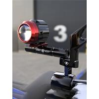 电动踏板车装饰配件多功能扩展支架横杆弯梁摩托车改装射灯后镜座