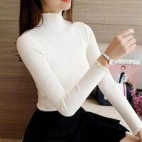 高领毛衣套头打底衫修身针织衫纯色线衣长袖上衣冬季内搭女装韩版