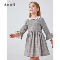 【2件4折 �A估券后�r:149】安奈�和��b女童�L袖�B衣裙2020