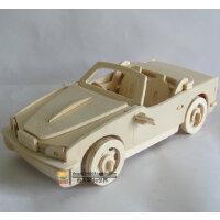 益智木质汽车模型 DIY仿真立体成人拼图智力玩具 手工拼装大宝马