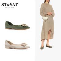 St&Sat/星期六2020年春季新款金属扣饰单鞋女SS01111062
