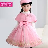 儿童连衣裙韩版蕾丝背心裙女孩呢子公主裙纱裙子