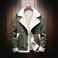 冬装羊羔毛夹克男加绒保暖棉衣毛皮一体潮流帅气棉服冬季加厚外套