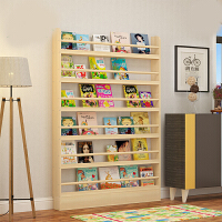 儿童书架书柜简约现代实木小书架落地简易置物架绘本架书橱幼儿园