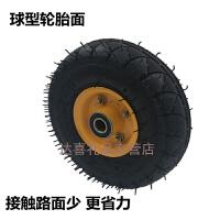 10寸充气轮410/350-4老虎车轮子手推车轮手拉车轮胎打气轮静音轮