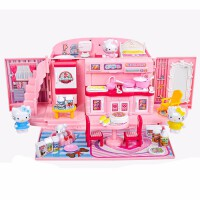 小伶hellokitty凯蒂猫厨房玩具儿童女孩娃娃家手提包屋新年礼物