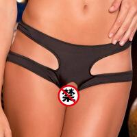 欧美新款大码女士性感情趣内裤开档内裤情趣内衣