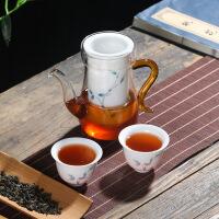 茶具红茶泡茶器陶瓷白瓷手绘普洱茶壶茶杯整套耐热玻璃功夫套装
