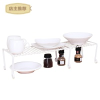 厨房用品可伸缩碗碟收纳置物架储物调料锅架碗碟沥水架SN4361 米白色