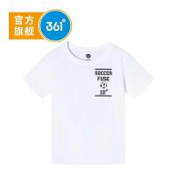 【大牌日�B券�A估�r:25.6】361度童�b 男童T恤2020年夏季新品�和�短袖上衣K51921206